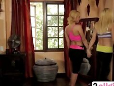 Attractive Lesbians Jana Jordan And Aaliyah Love Pleasure Their Pussies Under Shower