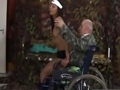 Horny Nurse Riding Veterans Stiff Dong Hard