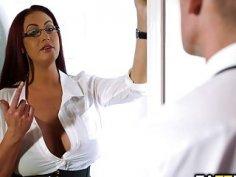 Boss Emma Butt blowjob Marc Roses massive cock