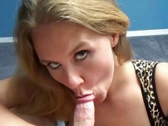 Dani Arcadia is on her knees and sucking dick