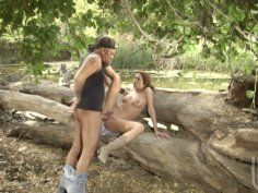 Forest adventures with hussy whore Kirsten Price