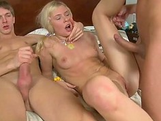 Getting her slit ravished by two hunks kindle babe