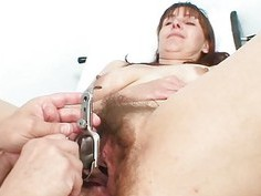 Exremely hirsute puss opened by gyn specialist