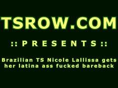 Brazilian TS Nicole Lallissa Bareback