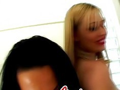 Ass to mouth action with couple of sex-crazed young sluts