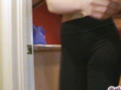 Celeste yanks off Lana's spandex