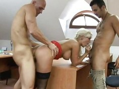 Cindy Dollar gets sex in the classroom on a desk