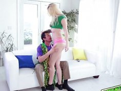 Sierra Nicole railed by Papas big cock sideways