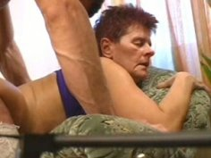 Too old and too dirty slut gets banged doggy by voracious stud