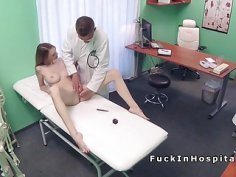 Shy patient got horny and fucked doctorin hospital