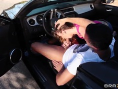 Extremely sexy Staci Silverstone fucks with car seller to get a discount