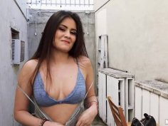 Armenian Babe Gets Cum in Her Eye
