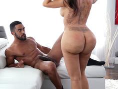 Lela Star plants her stellar ass on that black throbber