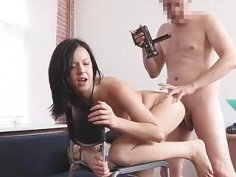 This babe rides penis to become a model