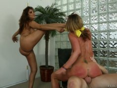 Assholes of Francesca Le and Sheena Shaw get boned by Mark Wood