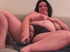 BBW wife toying