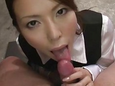 Japanese? Rino Asuka spreads legs for large cock?