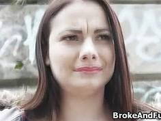 Sucked by broke big tit amateur babe