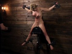 MILF Kitten Cherie Deville Restrained and Sybianed in Metal