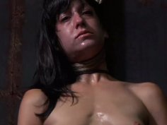 Naive looking brunette mom Elise Graves hanged by neck