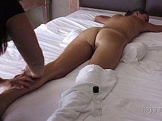 Spycam massage video