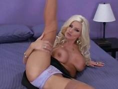 Naughty Blonde in High Heels