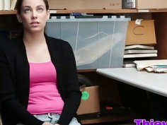 Teen Shoplifter Bobbi Dylan Pounded In Office