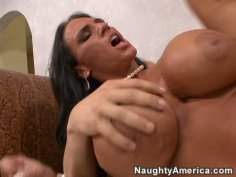 Lisa Lipps with bubble gum boobs gives cock masssage