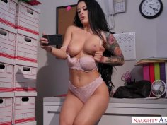 Office Orifice Katrina Jade' Holes Get Filled By Her Boss