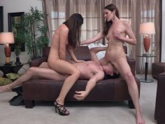 Two black heads Samantha Ryan, India Summer are perfect for one strong cock