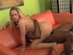 Whorable blondie Britney Young rides a strong Jack Napier's shlong