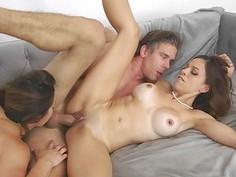Eva Long and Leah Gotti threesome scene