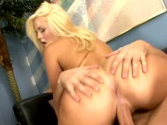 Cute blonde Alexis Texas rides meaty pole.